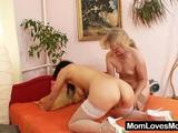 See as one rebellious GILF sucks pinkish vagina of this brunette mom. Later they pleasure their pussies with dildos. Honestly, they love it. Listen to ...