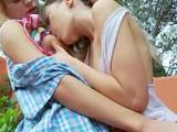 Romantic lesbo adventure from Russia of 18 years old chicks