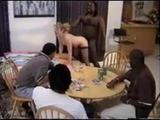 slut at poker party fucked by black guy