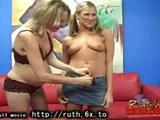 Pregnant blonde and friend gobble down on black giant dick