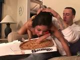 Watch today's needy dark-haired whore Eva Ellington, as she blows hard package pizza delivery man. Afterwards, Eva's wet pussy extremely banged by big sausage. fucking ...