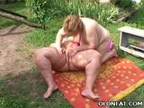Amanda and Sue Ann are hefty older lesbians indulging their love for oral sex in this sizzling hot outdoor sex movie. Amanda joins Sue Ann ...