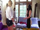 College amateur lesbians shaving legs for their initiation