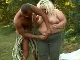 Meet Helga, a horny bbw with a pretty face and a huge appetite for fucking. In this hot outdoor scene, we hooked her up with ...