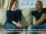 Teen redhead doll Mila Lukoshkina losing her virginity