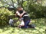 Watch one homo dude outdoor 1 on1. This one homo man offers blowjob to other homo man. As these 2 get undressed, 1 dude banged ...