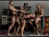 Sexy 3d gay males with hot muscles, young elfs, dirty warriors, horny football players, muscled soldiers and cute cowboys having fun sucking huge cocks and ...