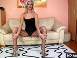 How do you get double your pleasure? This seductive sex siren knows the answer it's all in the fishnet stockings! Of course, it helps to ...