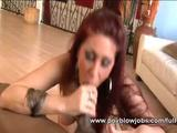 That fantastic BJ video shows one busty redhead wife as she blows one throbbing black dick until it cums delicious white stuff all over her ...