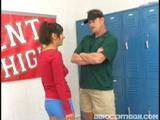 Beautiful Alana Leigh gets blasted with her coachs cum