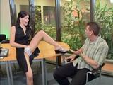 hot babe Rebecca Linares is a naughty receptionist