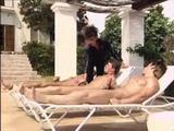 Sarah Young - classic sex by pool