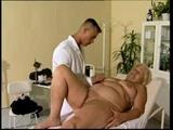 A hot mom creams as that old vag is massaged by a shameless doctor!